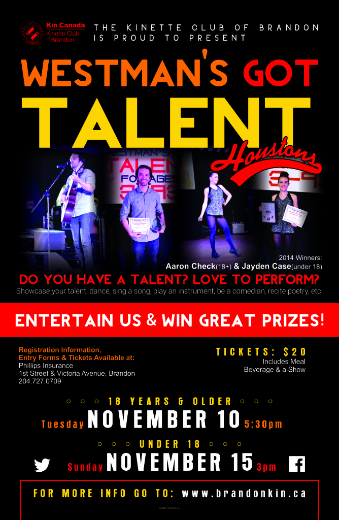 Houston's Westman's Got Talent Poster (1)